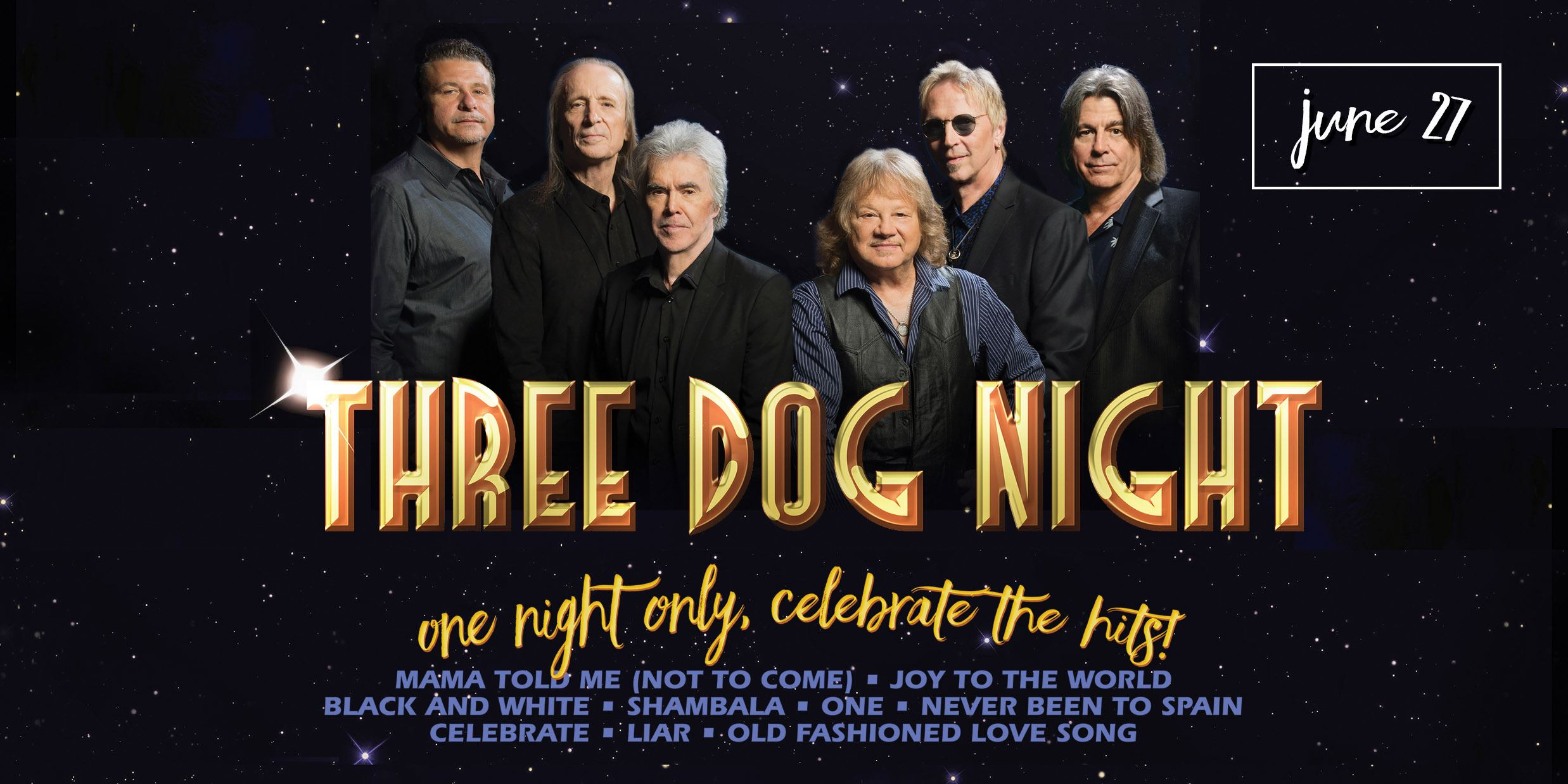 Three Dog Night at SumTur June 27th 2019