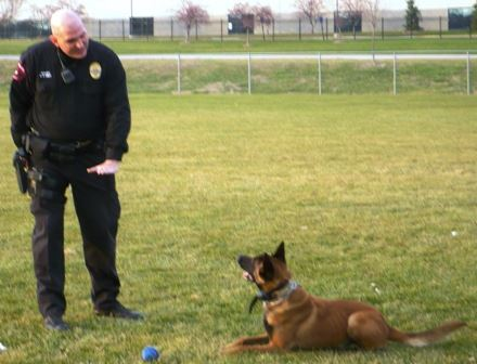 Officer Chris Goley and Deuce