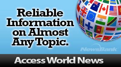 Access World News through Newsbank Opens in new window